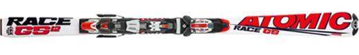 Горные лыжи Atomic GS 12.1 jr + крепления Evox 2.8
