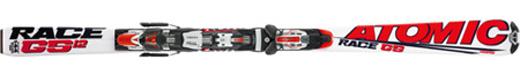 Горные лыжи Atomic GS 12.1 jr. + крепления Neox 310 76 Alu