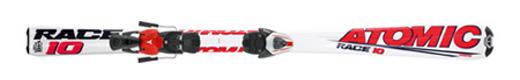 Горные лыжи Atomic Race 10 jr + крепления Evox 2.8