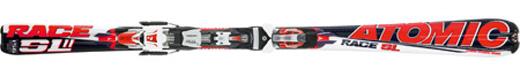 Горные лыжи Atomic SL11 BLA/WHI/RED +NEOX AF 412 76 SPORT RED