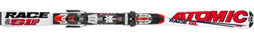 Горные лыжи Atomic SL 12 jr + крепления Neox AF 310