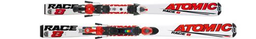 Горные лыжи Atomic Race 8 jr + крепления Evox 2.8