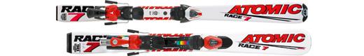 Горные лыжи Atomic Race 7 jr +крепления Evox 045