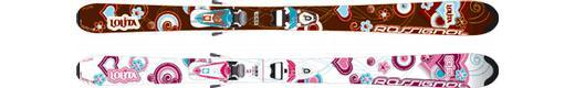 Горные лыжи Rossignol Lolita + Axium Girl