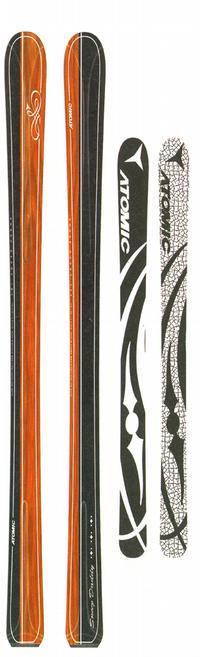 Горные лыжи Atomic Snoop Daddy + крепления Neox 412 99 Alu black